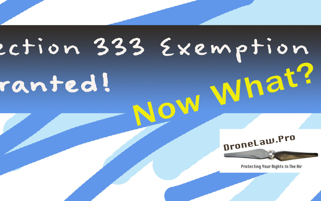 FAA Section 333 Exemption