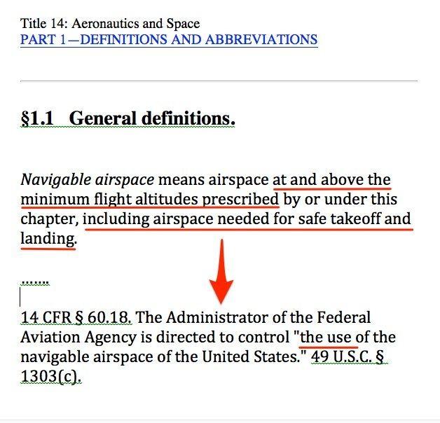 FAA Navigable Airspace