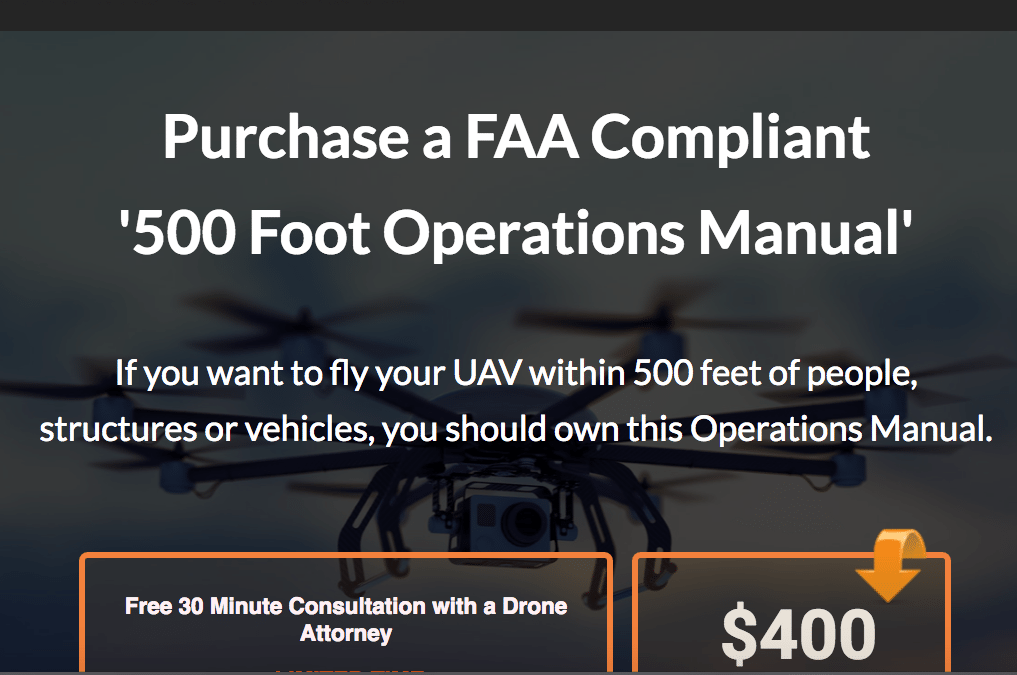 FAA required Manual for UAV drones