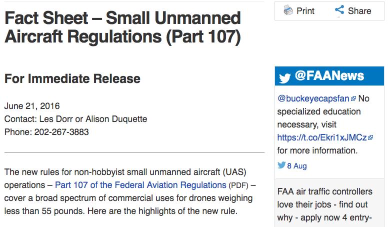 faa part 107 drones