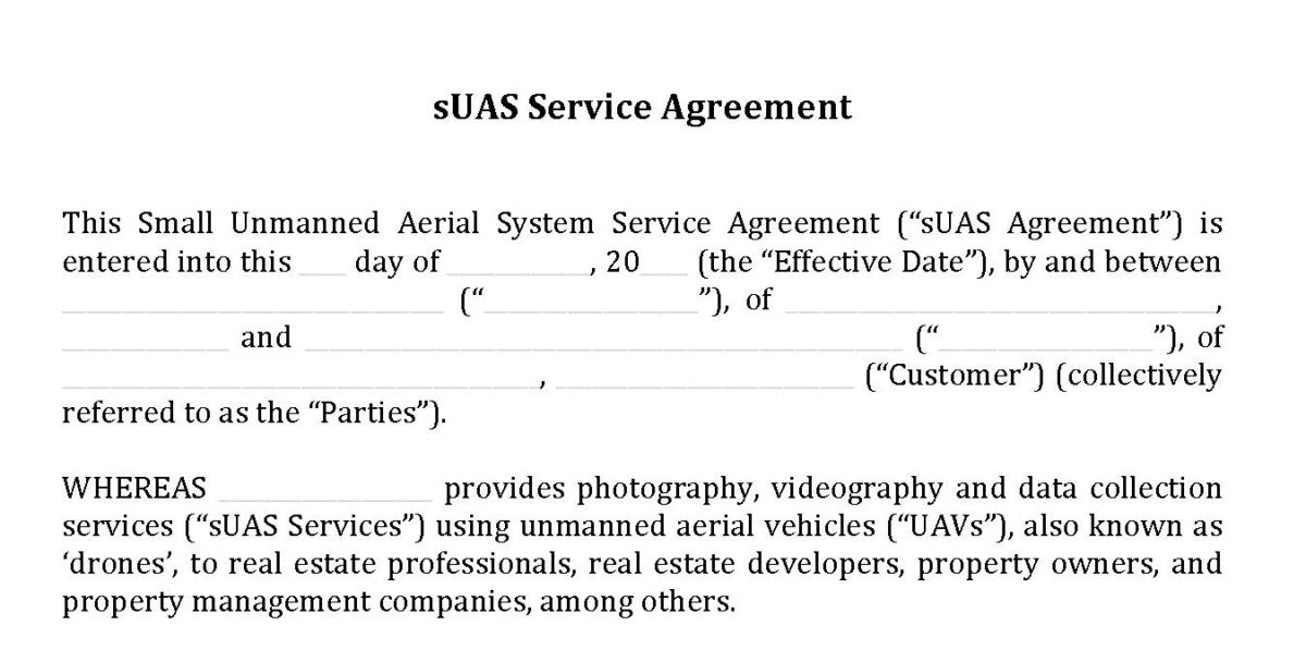 Dlps Version 20 Of Industry Standard Suas Service Agreement Hire